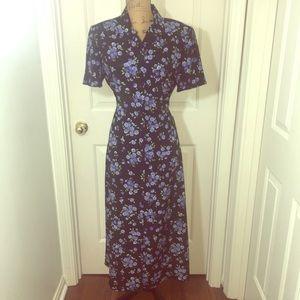 Floral Button Up Dress-12